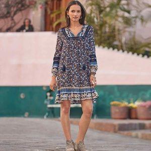 NEW Sundance Simona Floral Embroidered Boho Dress